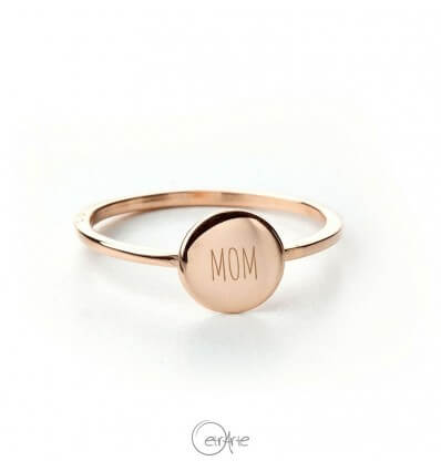 Anello mini cerchio in oro rosa - MOM Special Edition