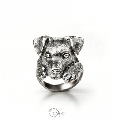Anello cane Jack Russell Terrier in argento