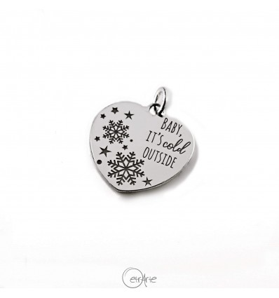 "Ciondolo cuore in argento ""Baby, It's cold outside"""